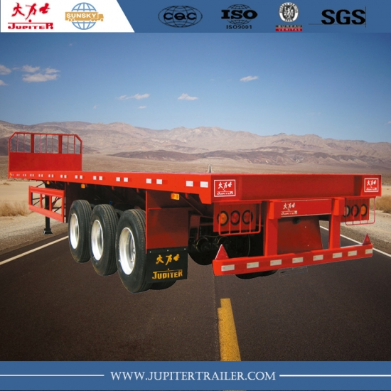 Chinese supplier 40ft flatbed trailer