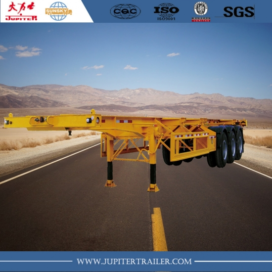 40foot 3-axle skeleton trailer to carry 40ft container