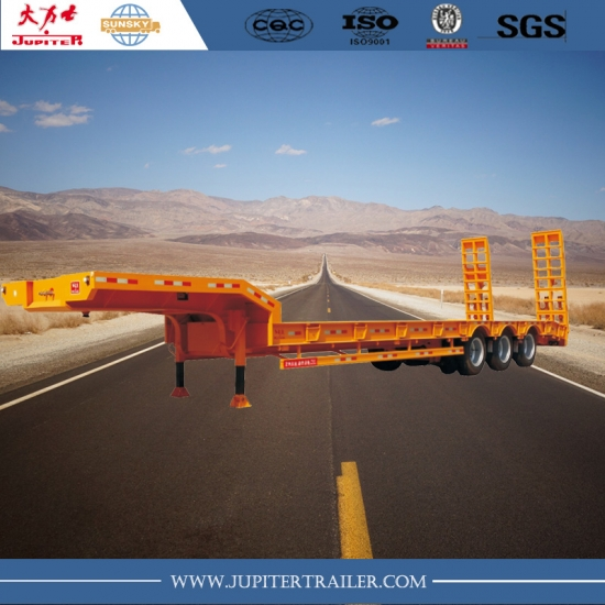 Sunsky brand 3-axle 60ton lowbed semi-trailer