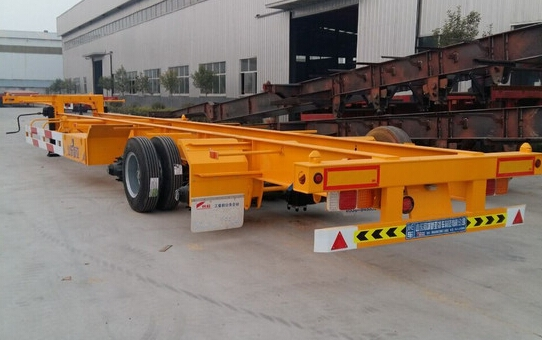 40ft 3 axles gooseneck skeleton container semi trailer
