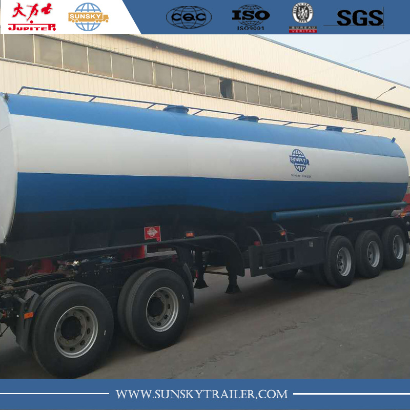 40,000L tanker trailer with steam heating to carry crude oil