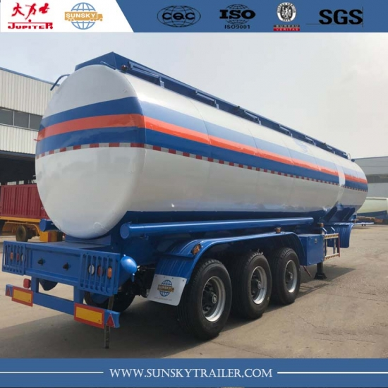 3 axles 42000 liters fuel tanker trailer with airbag suspension