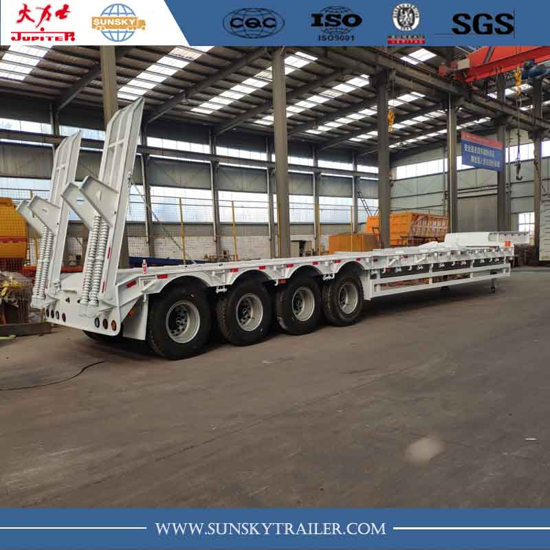 4 axle low bed trailer